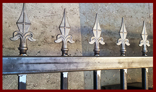 Bespoke fabricated iron gates